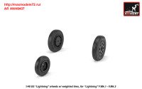 AR AW48407   1/48 EE «Lightning-II» wheels w/ weighted tires, early (attach1 31289)