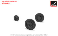AR AW48407   1/48 EE «Lightning-II» wheels w/ weighted tires, early (attach2 31289)