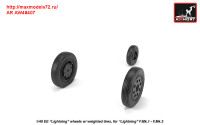AR AW48407   1/48 EE «Lightning-II» wheels w/ weighted tires, early (attach3 31289)