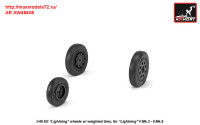 AR AW48408   1/48 EE «Lightning-II» wheels w/ weighted tires, late (attach1 31294)