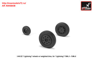 "AR AW48408   1/48 EE ""Lightning-II"" wheels w/ weighted tires, late (attach2 31294)"