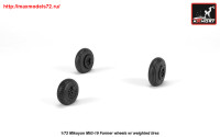 AR AW72051   1/72 Mikoyan MiG-19 Farmer wheels w/ weighted tires (attach1 25556)