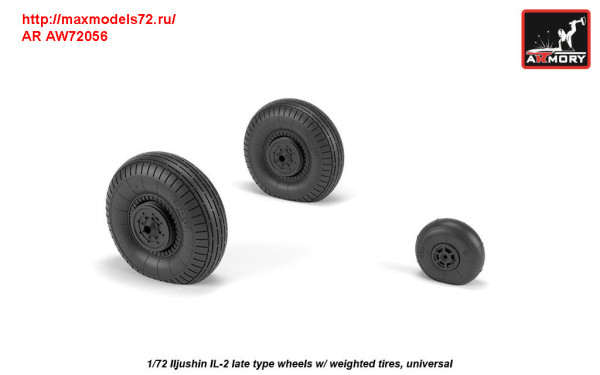 AR AW72056   1/72 Iljushin IL-2 Bark (late) wheels w/ weighted tires (thumb31299)