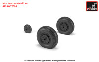 AR AW72056   1/72 Iljushin IL-2 Bark (late) wheels w/ weighted tires (attach2 31299)