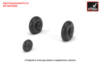 AR AW72056   1/72 Iljushin IL-2 Bark (late) wheels w/ weighted tires (attach3 31299)