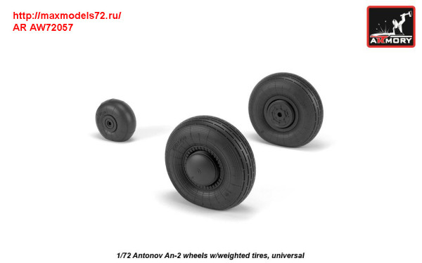 AR AW72057   1/72 Antonov An-2/An-3 Colt wheels w/ weighted tires (thumb31304)