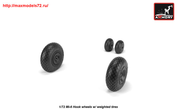 AR AW72058   1/72 Mil Mi-6 Hook wheels w/ weighted tires (thumb25576)