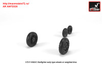 AR AW72320   1/72 F-104A/C Starfighter early wheels, w/ optional nose wheels, weighted (attach3 31319)