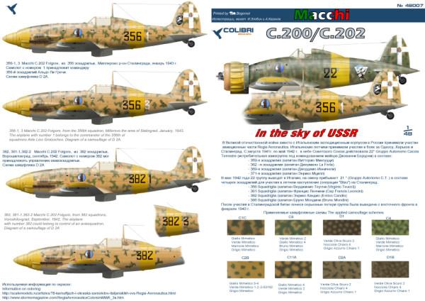 CD48007   ltalian fighters in the sky of the USSR (MC. 200/ MC. 202) (thumb24927)