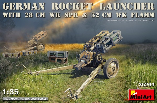 MA35269   German Rocket Launcher with 28cm WK Spr & 32cm WK Flamm (thumb32633)