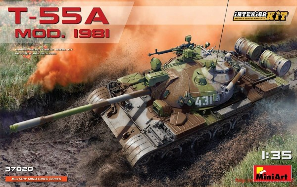 MA37020   T-55A tank model 1981. Interior kit (thumb32662)