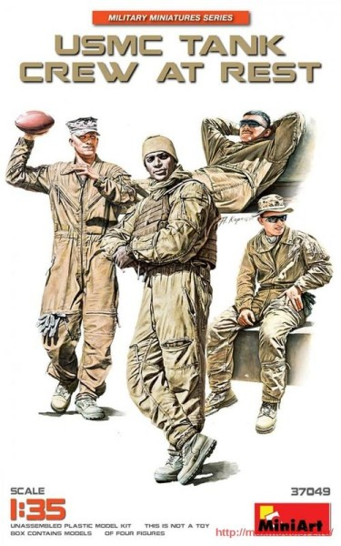 MA37049   USMC tank crew at rest (thumb32688)