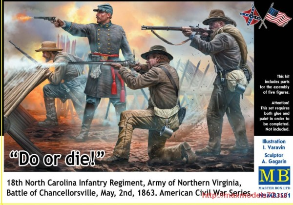 MB3581   Do or die!, 18th Infantry Regiment of North Carolina. U.S. Civil War Series (thumb32577)
