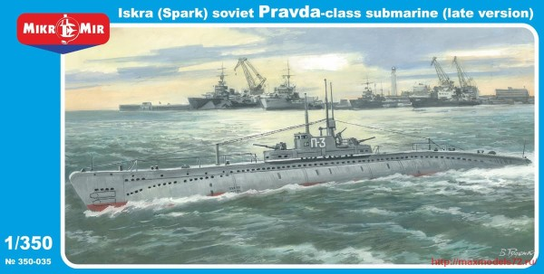"MMir350-035   ""Iskra"" (Spark) Pravda class Soviet submarine (late version) (thumb32560)"