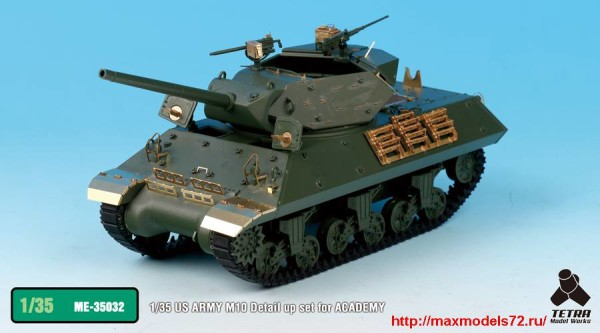 TetraME-35032   1/35 US ARMY M10 Detail up set for ACADEMY (thumb33359)