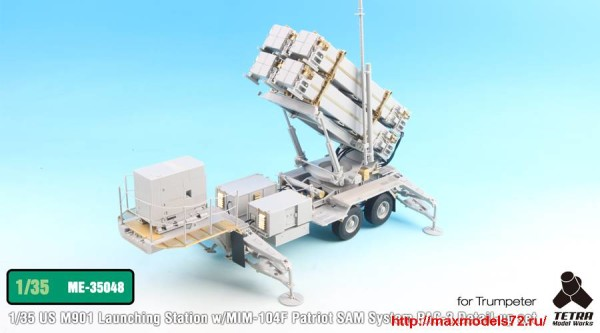 TetraME-35048   1/35 U.S. M901 Launching Station w/MIM-104F Patriot System PAC-3 Detail-up set for Trumpeter (thumb33689)