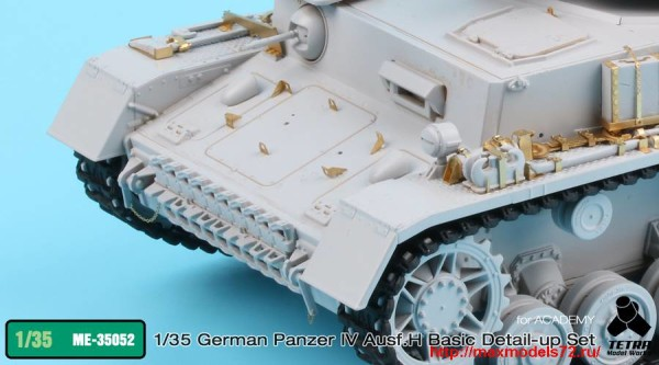 TetraME-35052   1/35 German Panzer IV Ausf.H Basic Detail-up set for Academy (thumb33731)