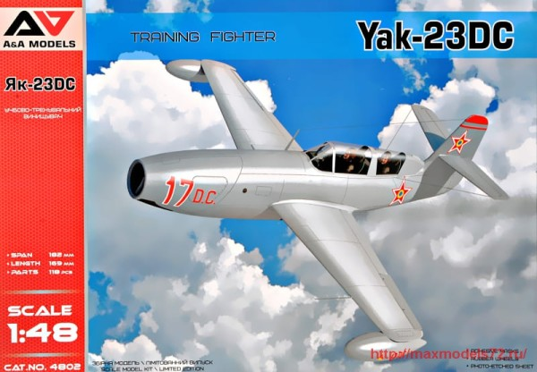 "AAM4802   Yak-23 DC ""Dubla Comanda"" training fighter (thumb32542)"