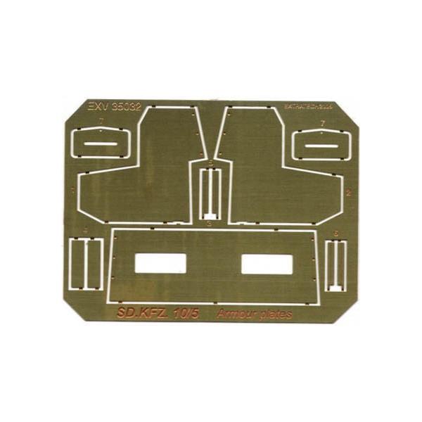 EXV35032 SDKFZ.10/5 DRIVER CAB ARMOUR PLATES (thumb28574)