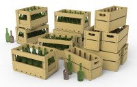 MA35575   Champagne & Cognac bottles w/crates (attach3 27043)