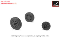AR AW32402   1/32 EE Lightning-II wheels w/ weighted tires, late (attach2 27761)