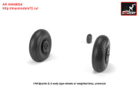 AR AW48034   1/48 Iljushin IL-2 Bark (early) wheels w/ weighted tires (attach1 27766)