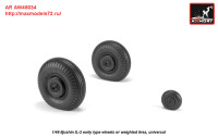 AR AW48034   1/48 Iljushin IL-2 Bark (early) wheels w/ weighted tires (attach2 27766)
