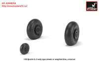 AR AW48034   1/48 Iljushin IL-2 Bark (early) wheels w/ weighted tires (attach3 27766)
