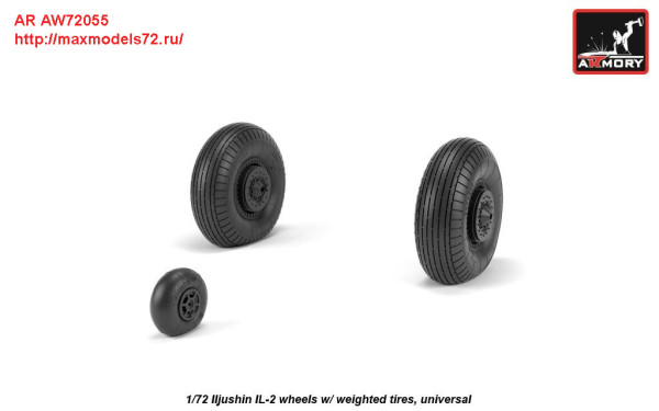 AR AW72055   1/72 Iljushin IL-2 Bark (early) wheels w/ weighted tires (thumb27771)