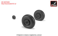 AR AW72055   1/72 Iljushin IL-2 Bark (early) wheels w/ weighted tires (attach2 27771)