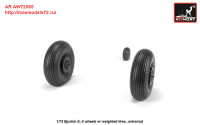 AR AW72055   1/72 Iljushin IL-2 Bark (early) wheels w/ weighted tires (attach3 27771)