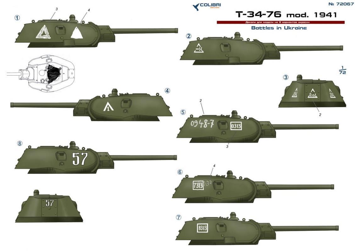 Periskope für T-34 1//72 cd-r72001// Colibri Decals Resin