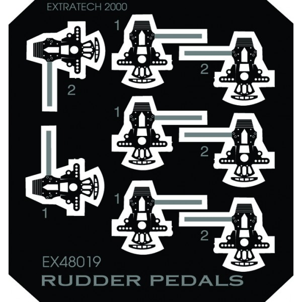 EX48019 GERMAN WW2 RUDDER PEDALS (thumb28442)