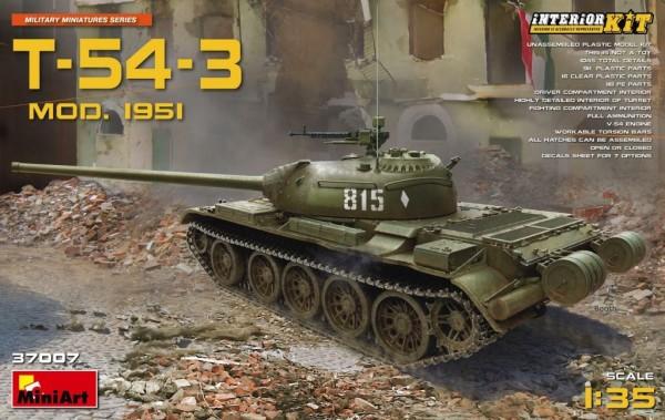 MA37007   T-54-3 Soviet tank, model 1951, Interior kit (thumb27068)