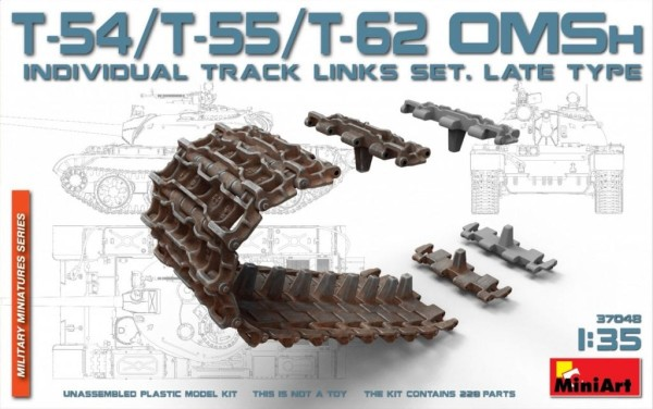 MA37048   T-54/T-55/T-62 OMSh individual track links set. Late type (thumb27162)