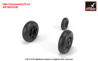 AR AW32305   1/32 F-117A wheels w/ weighted tires (attach1 31361)
