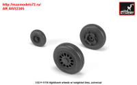 AR AW32305   1/32 F-117A wheels w/ weighted tires (attach2 31361)