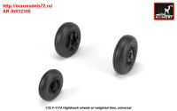 AR AW32305   1/32 F-117A wheels w/ weighted tires (attach3 31361)