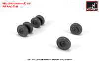 AR AW35301   1/35 CH-47 Chinook wheels w/ weighted tires (attach2 31376)