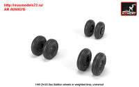 AR AW48315   1/48 CH-53 Sea Stallion wheels w/ weighted tires (attach1 31382)