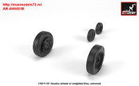 AR AW48318   1/48 F-101 Voodoo wheels w/ optional nose wheels & weighted tires (attach1 31387)