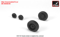 AR AW48318   1/48 F-101 Voodoo wheels w/ optional nose wheels & weighted tires (attach2 31387)