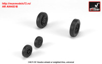 AR AW48318   1/48 F-101 Voodoo wheels w/ optional nose wheels & weighted tires (attach3 31387)