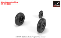 AR AW48322   1/48 F-117A wheels w/ weighted tires (attach1 31392)