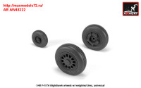 AR AW48322   1/48 F-117A wheels w/ weighted tires (attach2 31392)