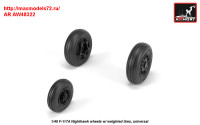 AR AW48322   1/48 F-117A wheels w/ weighted tires (attach3 31392)