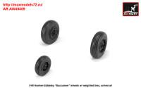 AR AW48409   1/48 Hawker-Siddeley «Buccaneer» wheels w/ weighted tires (attach3 31397)