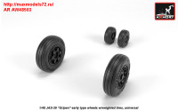 AR AW48503   1/48 JAS-39 «Gripen» wheels w/ weighted tires, early (attach1 31447)