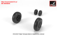 AR AW48504   1/48 JAS-39 «Gripen» wheels w/ weighted tires, late (attach1 31452)