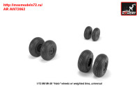 AR AW72062   1/72 Mil Mi-26 Halo wheels w/ weighted tires (attach1 31402)